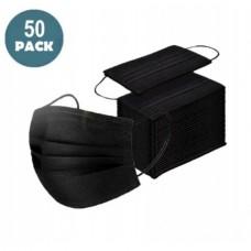 50 x Black Face Masks